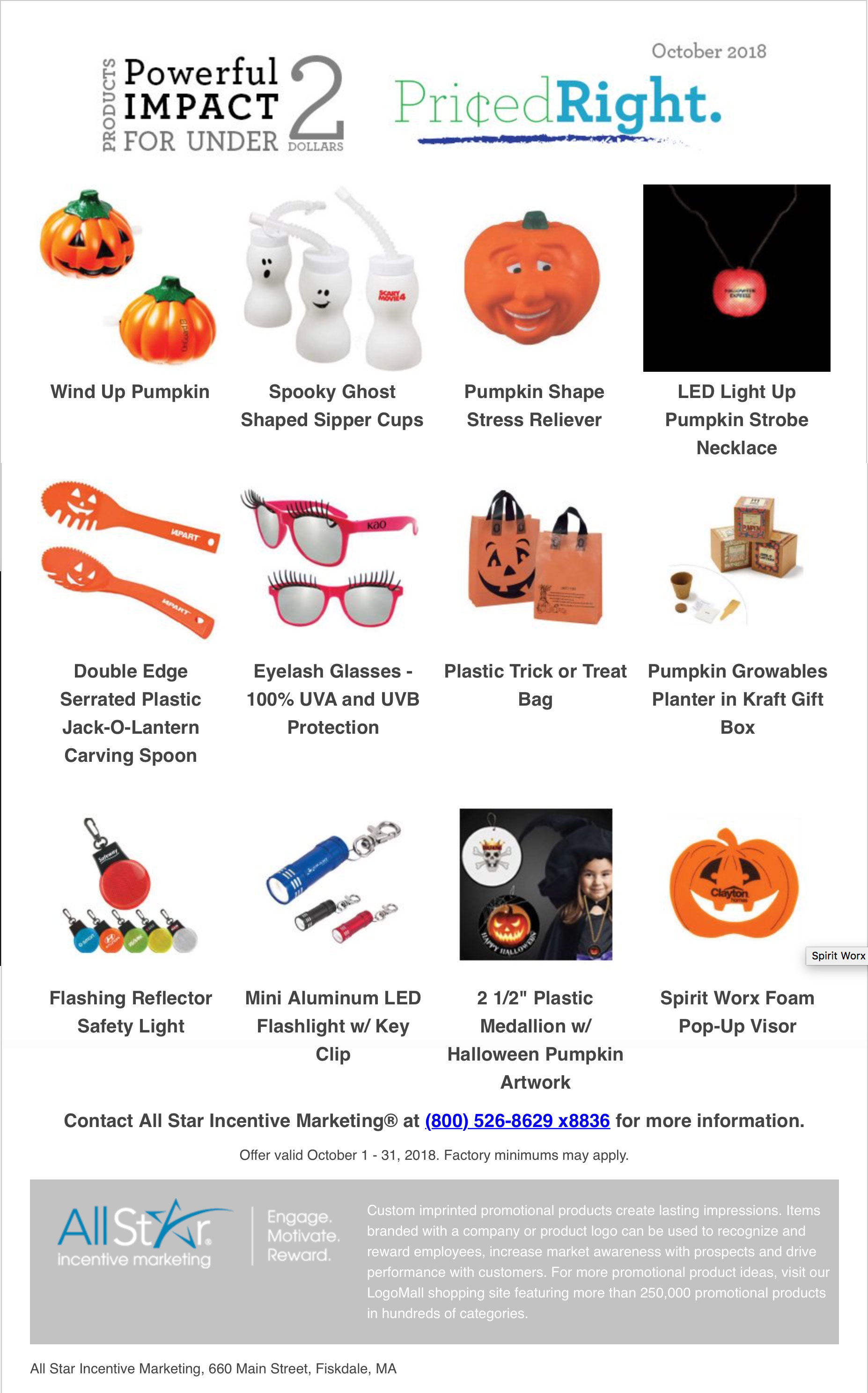Priced Right October $2 Specials