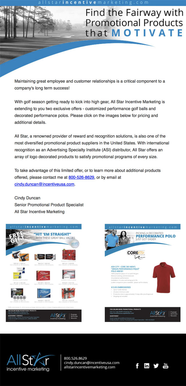 Promotional Products - Golf